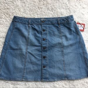 Mossimo Supply Co. Short Fit & Flare Jean Skirt